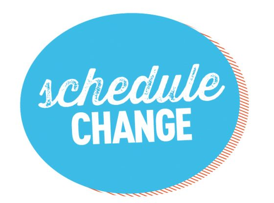 UPDATE:  Symposium Schedule Change for Friday