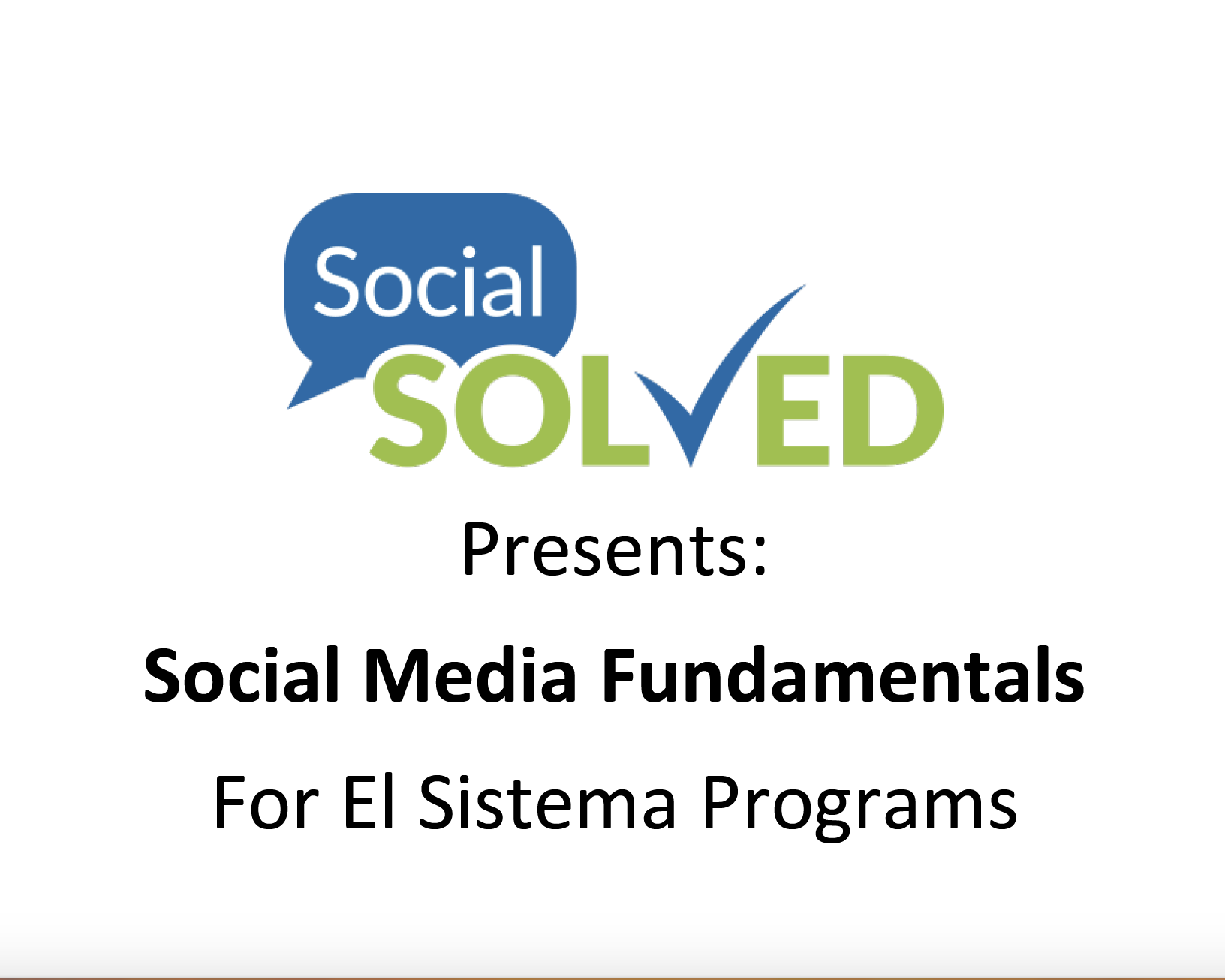 Webinar: Melissa St. John On Social Media Fundamentals – October 2017