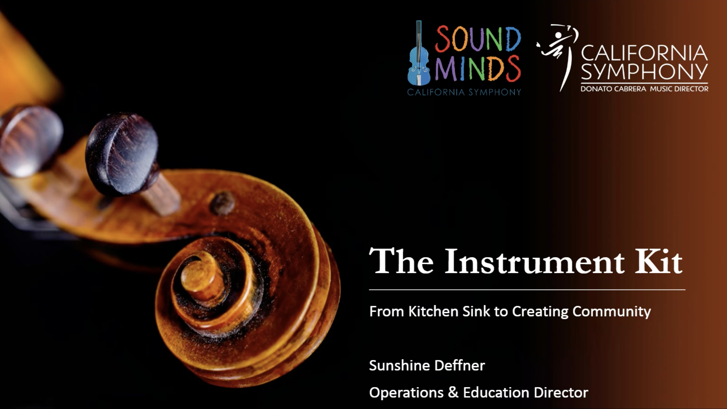 Webinar:  Sunshine Deffner On The Instrument Kit – March 2018